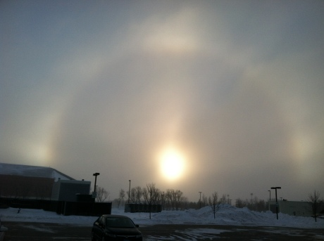 Sundog over Fargo