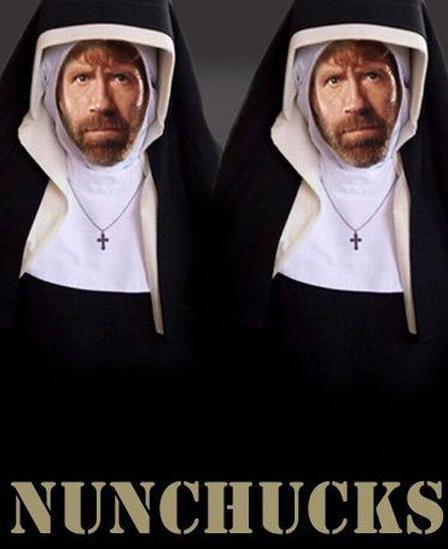 If that lady had tried to put makeup on Chuck Norris, I'm sure she' would've been seeing double.