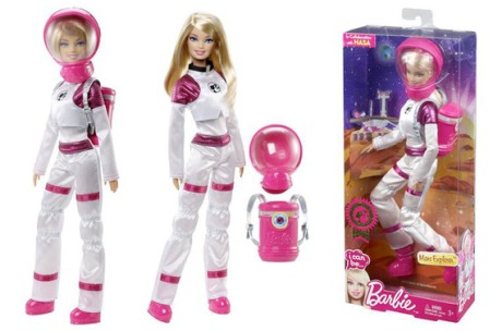 Yes, it's a Barbie.  But it's Mars Explorer Barbie!  It's probably the only Barbie I'd ever want to own, but I have to give two thumbs up to Mattel for this one.