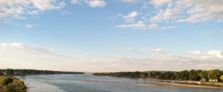 The Missouri River, facing south from the Expressway Bridge.