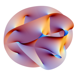 I need to brush up on my theoretical physics.  http://simple.wikipedia.org/wiki/Calabi-Yau_manifold#mediaviewer/File:Calabi-Yau.png